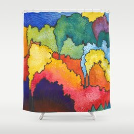 Crayon Factories Shower Curtain
