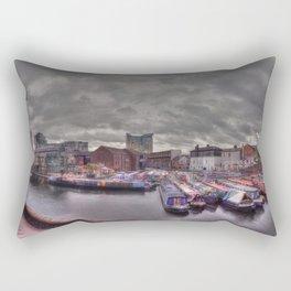 Gas Street Basin - the Canal House at dusk Rectangular Pillow