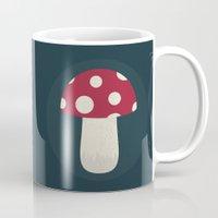 mushroom Mugs featuring mushroom by Emma S