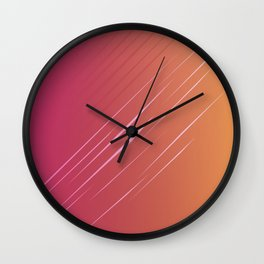 Simple, design wood lines Exotico Wall Clock