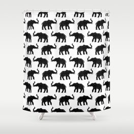 Elephants on Parade Shower Curtain