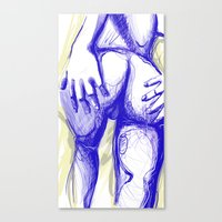erotic Canvas Prints featuring erotic by Mattew Draw