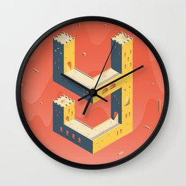 castle in the 'Y' Wall Clock