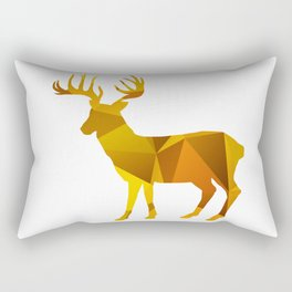 Deer - Gold Geomatric Rectangular Pillow