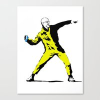 banksy Canvas Prints featuring Breaking Banksy by IF ONLY