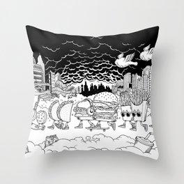 Noah's Spaceship Throw Pillow