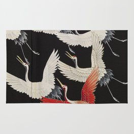 20th Century Flying Cranes Rug