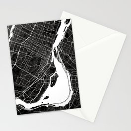 Montreal - Minimalist City Map Stationery Cards
