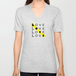 LOVE yourself - others - all animals - our planet Unisex V-Neck