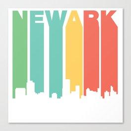 Retro 1970's Style Newark New Jersey Skyline Canvas Print