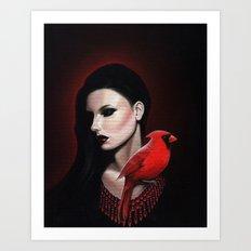 Dame Kardinal trois Art Print