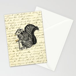 Warrior Squirrel Stationery Cards
