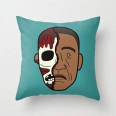 Faces of Breaking Bad: Gustavo Fring (Face-Off) Throw Pillow