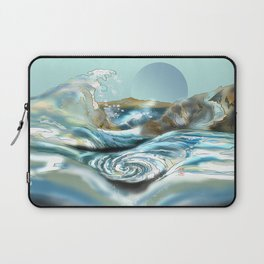 Blue moon rising at the Awa Prefecture whirlpool rapids in Japan Laptop Sleeve