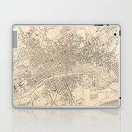 Vintage Map of Glasgow Scotland (1851) Laptop & iPad Skin