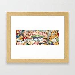 Circus Bus Ad Framed Art Print