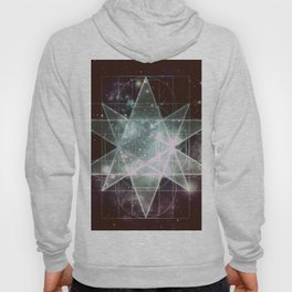 Galaxy Sacred Geometry : Stellated Icoshadron dark Hoody