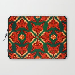 Fox Cross geometric pattern Laptop Sleeve
