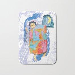 Sleeping and dreaming illustration, design for children Bath Mat