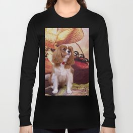 Ribbons, Bells And Cavalier King Charles Spaniel Long Sleeve T-shirt
