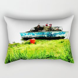 Lobster Dinghy With Lobster Traps Rectangular Pillow