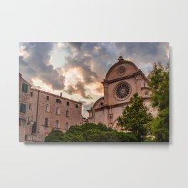 St. Jacob`s Chatedral Sibenik, Croatia Metal Print