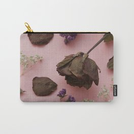 Flourish pattern in pink Carry-All Pouch