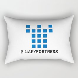 Binary Fortress Software (blue logo) Rectangular Pillow
