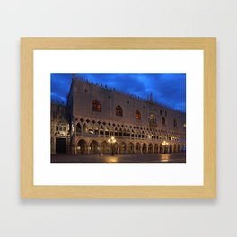 Doges Palace In Venice At The First Morning Light Framed Art Print