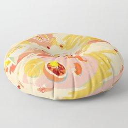ORANGE AND PINK FRUIT Floor Pillow