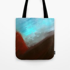 Mountains in blue Tote Bag