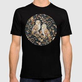 Wooden Wonderland Barn Owl Collage T-shirt