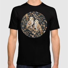 Wooden Wonderland Barn Owl Collage T-shirt
