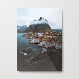 Hamnoy Village Metal Print