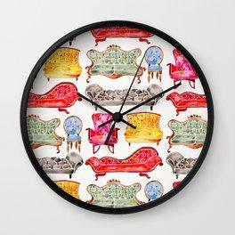 Victorian Lounge – Rainbow Palette Wall Clock