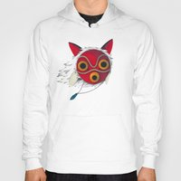 mononoke Hoodies featuring Mononoke Mask  by Puddingshades