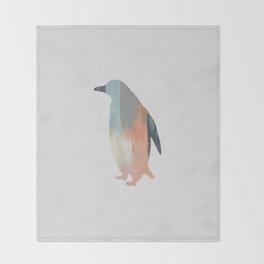 Pastel Penguin Throw Blanket