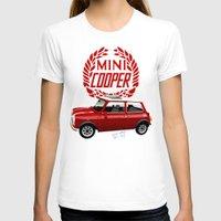 mini cooper T-shirts featuring Classic Mini Cooper by car2oonz