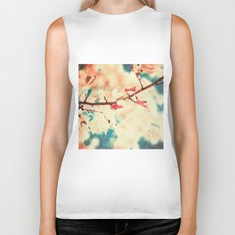Autumn (Leafs in a textured and abstract sky) Biker Tank