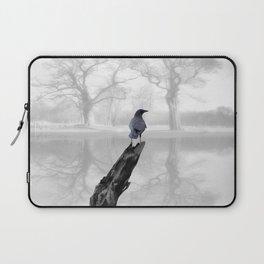 Crow On Misty Pond A114 Laptop Sleeve