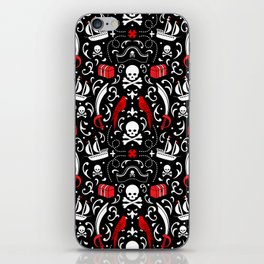 A Pirate's Life Damask iPhone Skin
