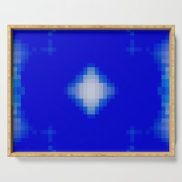 Deep blue pixel Serving Tray
