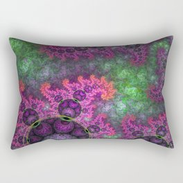 Dragon spirals in a green field, fractal art Rectangular Pillow