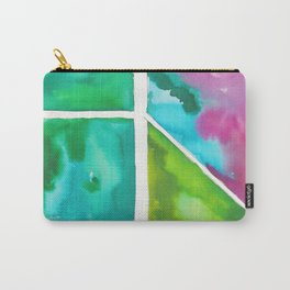 180811 Watercolor Block Swatches 9 | Colorful Abstract |Geometrical Art Carry-All Pouch