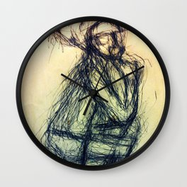 The contemplator Wall Clock