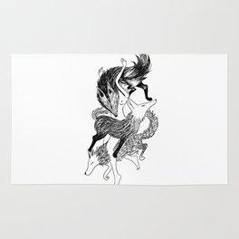 Femme Loup Tattoo Rug