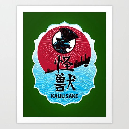 Kaiju Sake Art Print