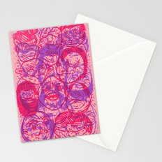 Overlapping Buds Stationery Cards