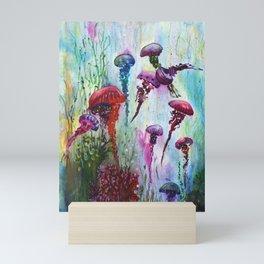 jolly jellyfish Mini Art Print