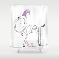 goat Shower Curtains featuring Goat by Ryan van Gogh